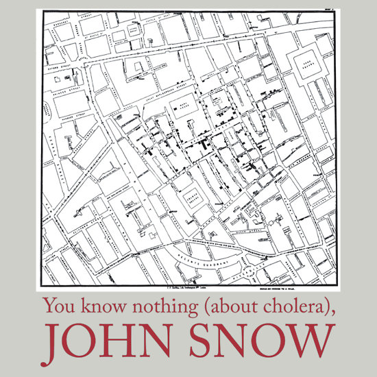 You know nothing (about cholera), John Snow